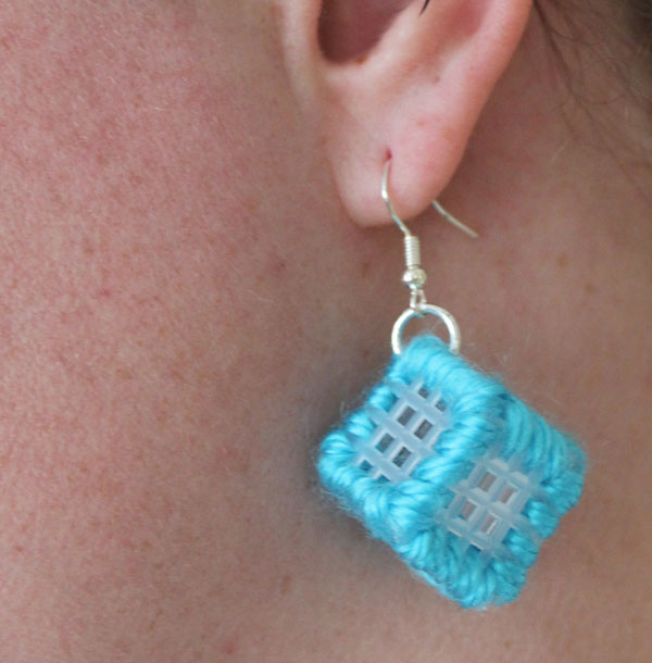 plastic canvas earrings