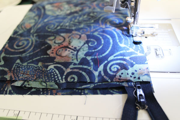 stitch on zipper