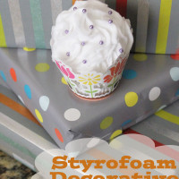 styrofoam decorative cupcake