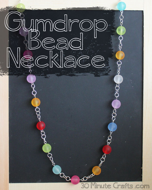 Gumdrop Bead Necklace made in 30 minutes