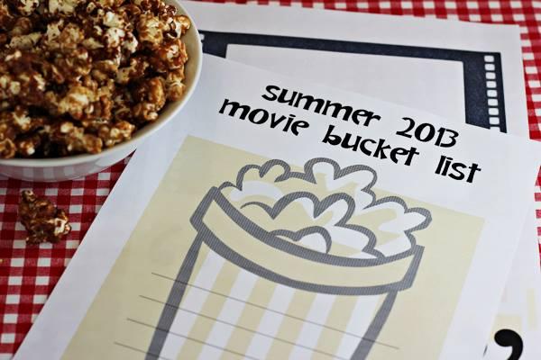 Summer movie bucket list