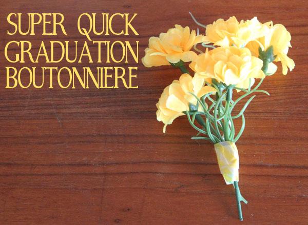 Super Quick Flower boutonniere
