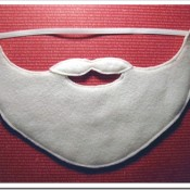 easy santa beard - snazzlecraft blogspot