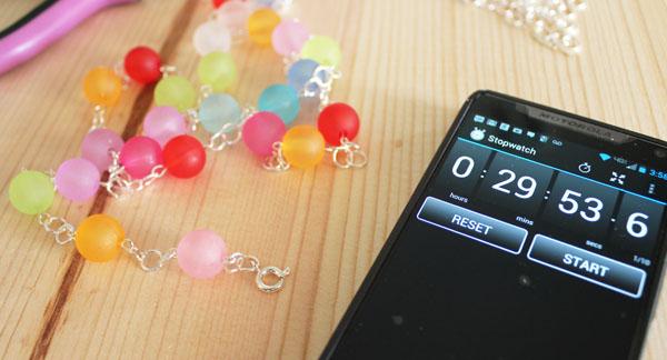 gumdrop bead necklace in 30 minutes