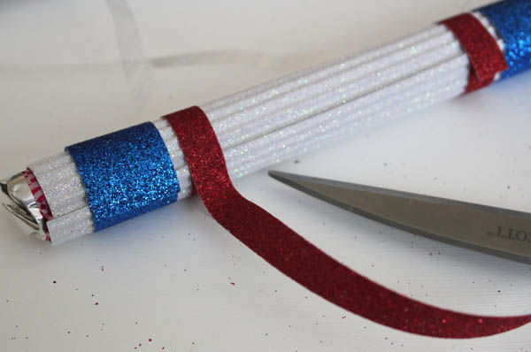 wrap with glitter tape