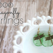Dragonfly Earrings from Pitter and Glink
