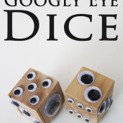 Googly eye dice at 30 Minute Crafts