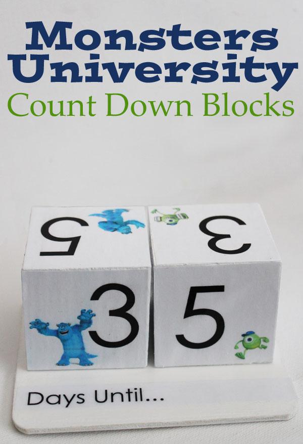 Monsters University Count Down Calendar