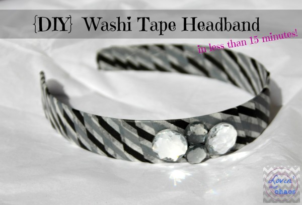 Washi Tape Headband - Lovin Our Chaos