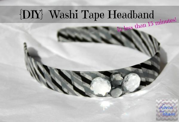 Washi Tape Headband - Lovin Our Chaos