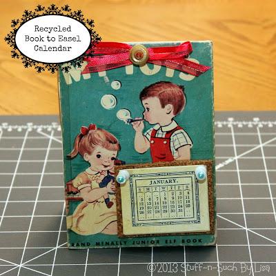 book_easel_calendar from Lisa Stuf blogspot