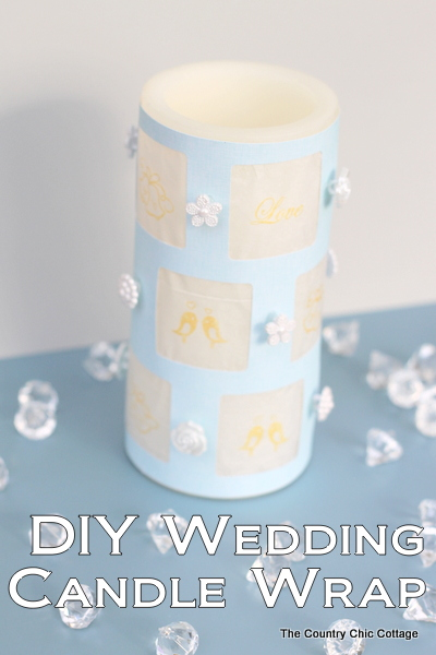diy wedding candle wrap - the country chic cottage