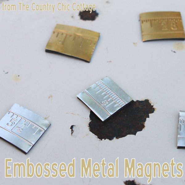 embossed metal magnets - the country chic cottage