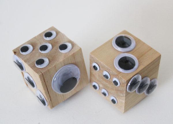 google eye dice are a fun alternative to regular dice!