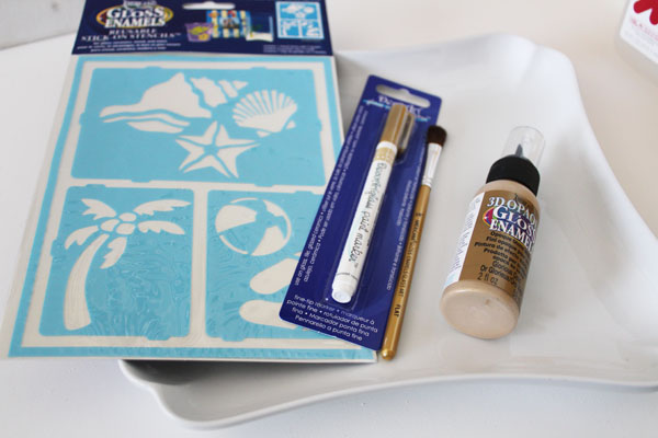 supplies for glass paint plate