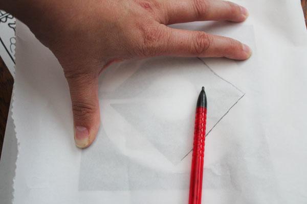 trace logo to freezer paper