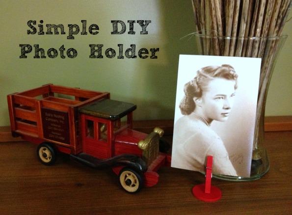 Clothespin Photo Holder - Mrs Greene