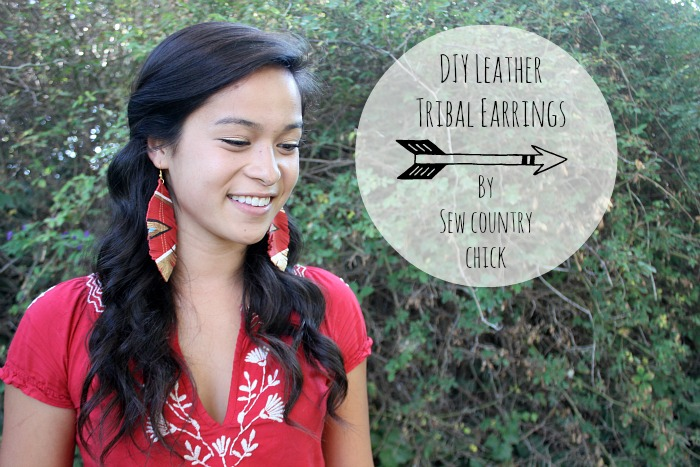 DIY Tribal Leather Earrings - Sew Country Chic