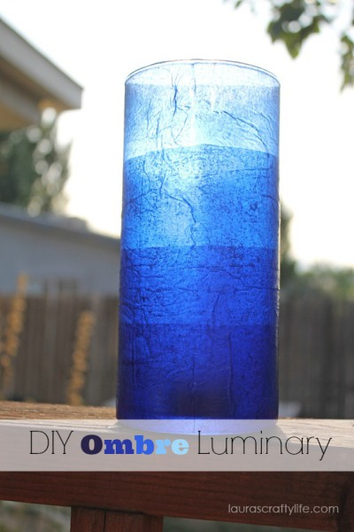 DIY ombre luminary - Lauras Crafty Life