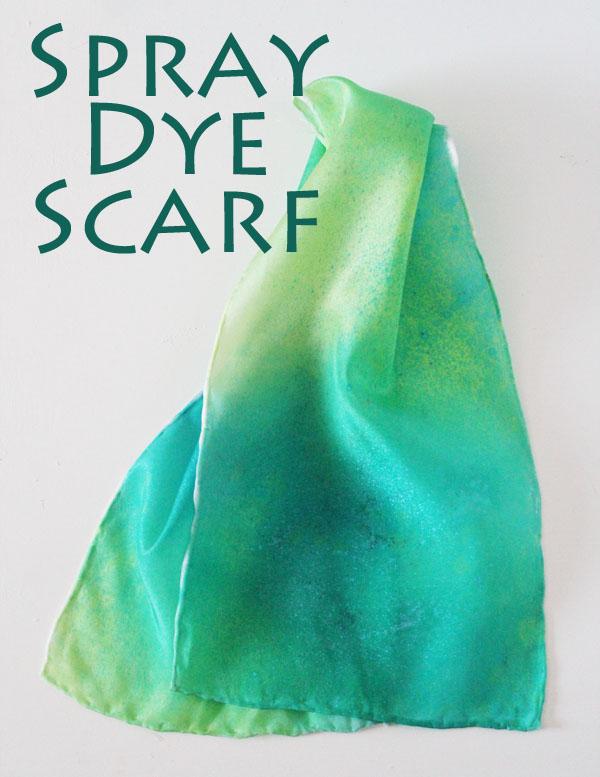 Spray Dye Scarf