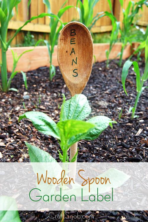 Wooden Spoon Garden Label - Craft Snob