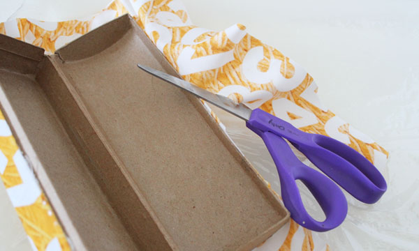 cut away excess fabric