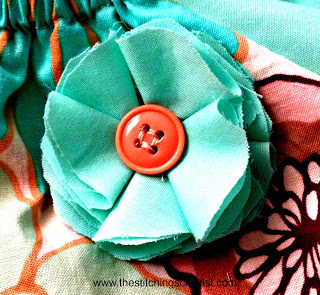 fabric flower by the stitching scientist