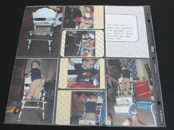 lots of photos layout