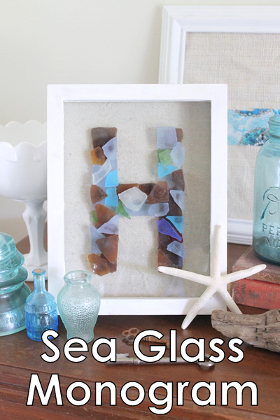sea glass monogram - the country chic cottage