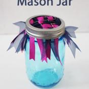 woven ribbon mason jar
