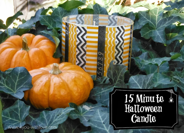 15 minute Halloween candle from 4 you With Love