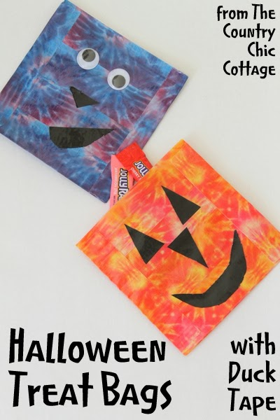 DIY Halloween Treat Bags made with Duck Tape at The Country Chic Cottage
