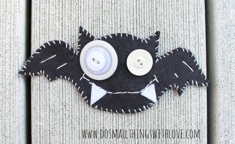 Felt Bat Brooch - Do Small Things with Love