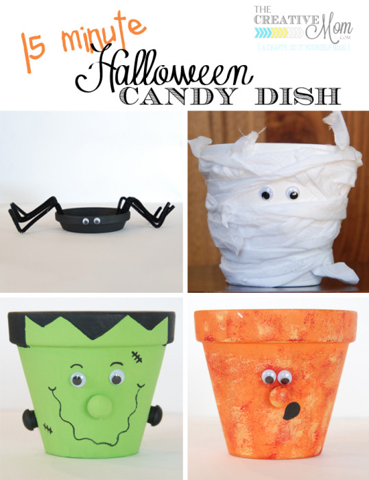 Halloween Candy Dish on The Creative Mom