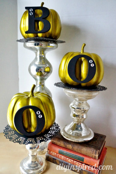 Halloween Pumpkin Display by DIY Inspired