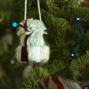 Winter Hat Ornament - The Letter 4