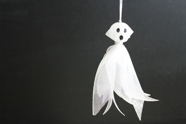 finished ribbon ghost tassel