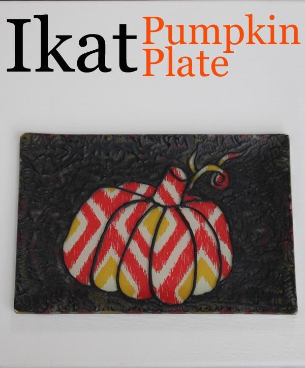 ikat pumpkin plate