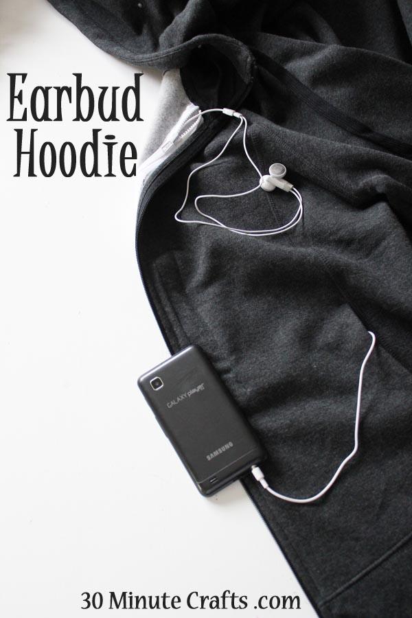 Earbud hoodie