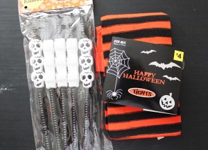 Halloween tights and Straws