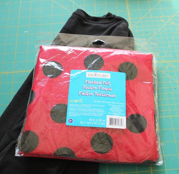 Ladybug costume supplies