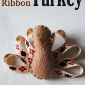 Mini Felt and Ribbon Turkey