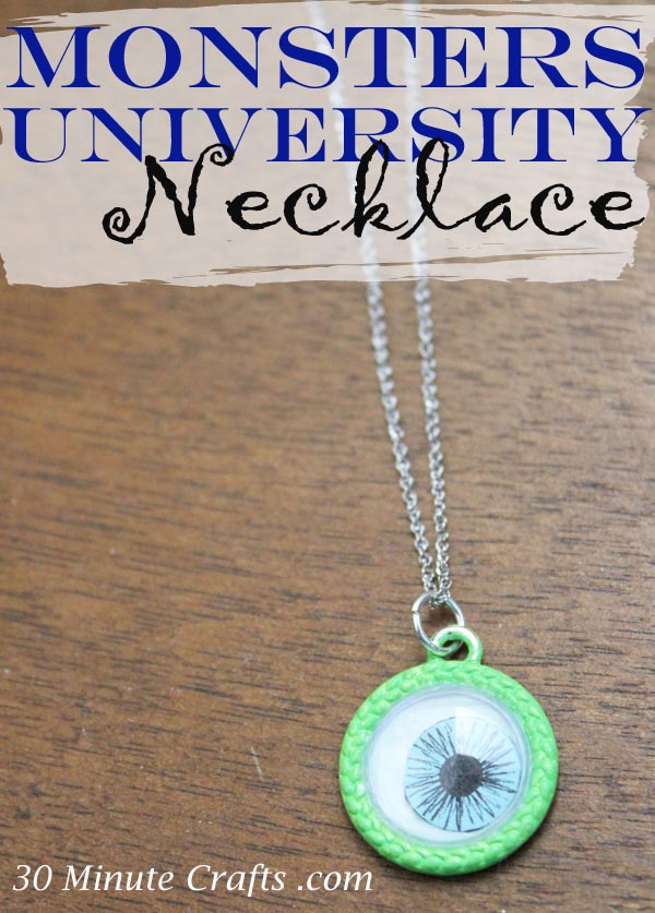 Monsters University Necklace