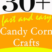 Over 30 Fast and Easy Candy Corn Crafts at 30 Minute Crafts