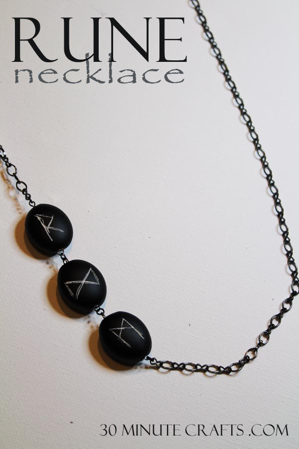 Rune Necklace on 30 Minute Crafts