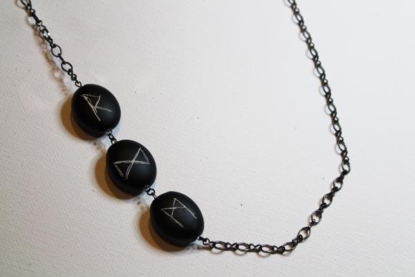 finished rune necklace