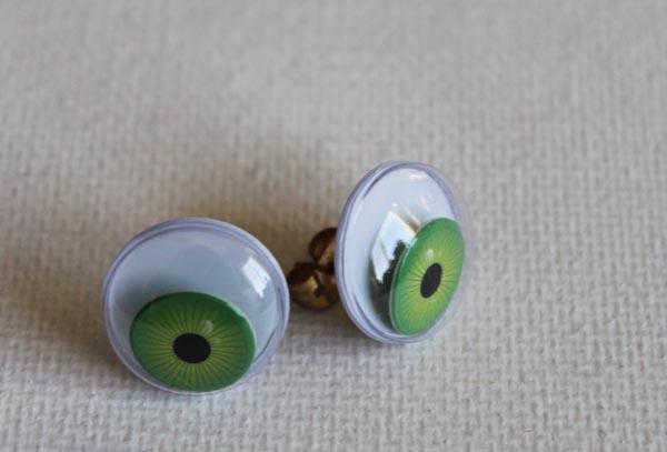 google eye earrings