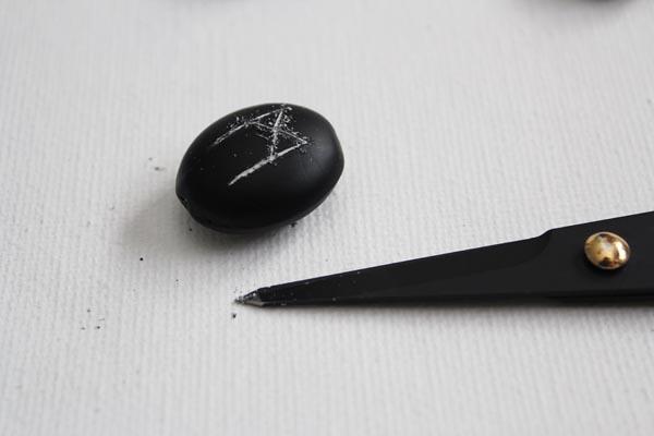 scratch shape into rune