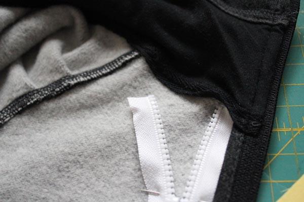 trim zipper