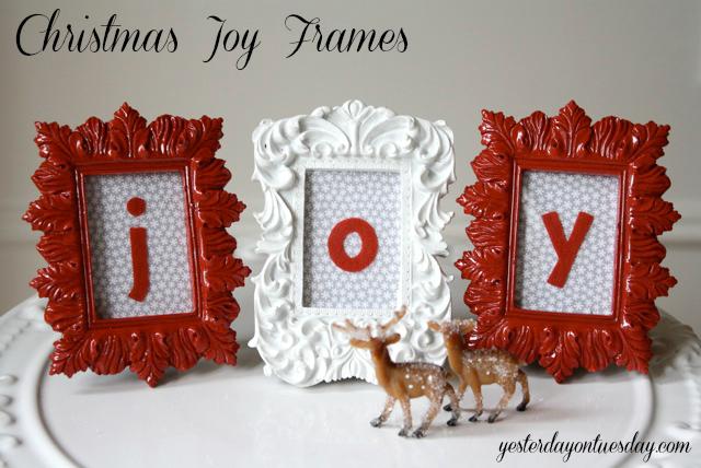 Christmas Joy Frames - Yesterday on Tuesday